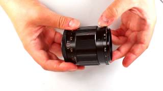 How to use aperture preset mechanism of VOLNA-9 2.8/50 russain macro lens