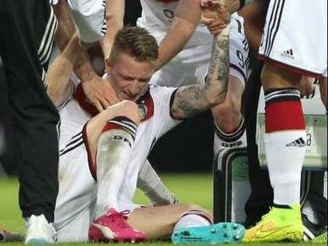 Alemania 6 - 1 Armenia I Goles l Incluye la lesion de Marco Reus l 6.6.2014