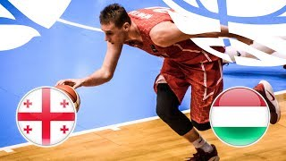 Georgia v Hungary - Full Game - Class. Game 9-16 - FIBA U20 European Championship Division B 2018