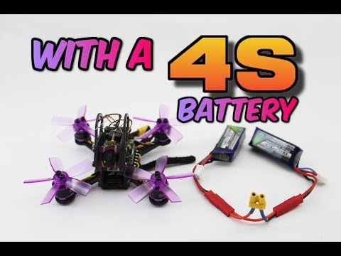 WORLDS FASTEST micro drone...RIGGED TO EXPLODE LIzard95 4s FPV drone