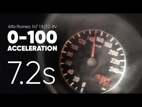 Alfa Romeo 147 1.9 JTD 8v acceleration 0-150kmh