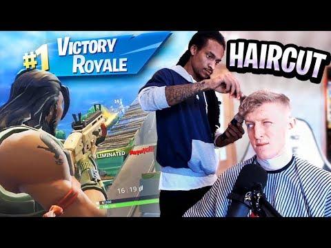 I WON a Game of Fortnite while Getting a Haircut (No sound)