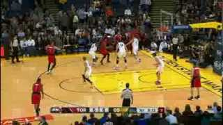Jonas Valanciunas Spins and Slams On Andrew Bogut
