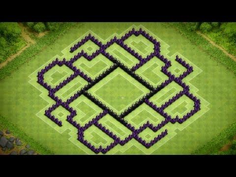 Clash Of Clans - Epic Town Hall 9 Dark Elixir Farming Base (Caelestis) Speed Build