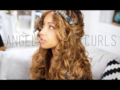 Angel Curls Hair Tutorial | Wet to dry