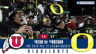 Highlights and Recap: Oregon routs Utah on way to winning Pac-12 title | CBS Sports HQ