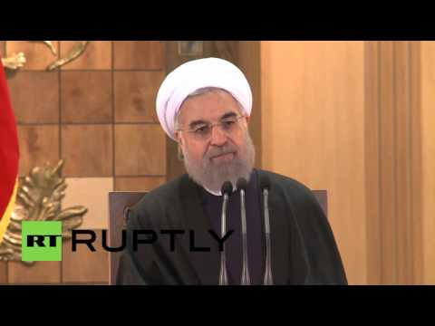 "Iran: Nuclear program not ""a threat to peace and security"" -  Rouhani"