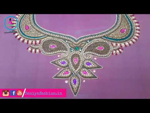 Hand embroidery Designer's Blouse full sleeve Aari with Zardoshi work saniya fashion
