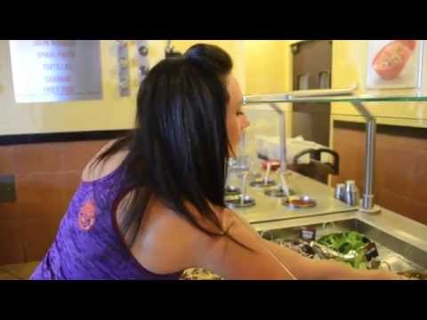 Watch Figure Competitor Andrea Build her #GGAthlete Bowl at Genghis Grill