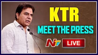 KTR Live | KTR Press Meet LIVE from Somajiguda Press Club | NTV LIVE