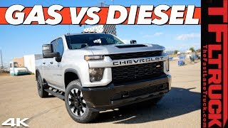What's Better and Quicker - The New 2020 Chevy Silverado Gas or Diesel Heavy Duty Truck?