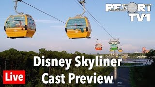 🔴Live: Disney Skyliner - Cast Previews - First Ride in 1080p | Walt Disney World