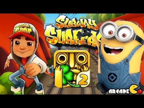 Despicable Me 2 Minion Rush Temple Run 2 Subway Surfers