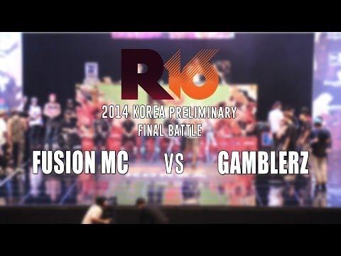 FUSION MC v GAMBLERZ  Bboy Crew Final  R16 2014 Korea  Allthatbreak...