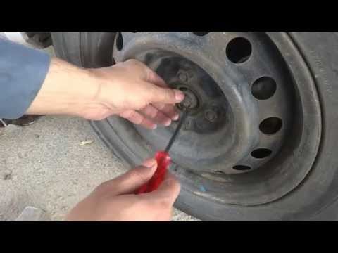Car front wheel bearing replacement.