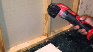 Cordless Milwaukee Multi-Tool Cutting Metal (Cutting Nails & Staples)