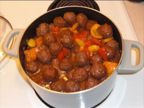Sweet and Sour Meatballs - ILoveHawaiianFoodRecipes