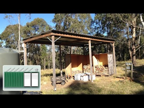 Shipping Container House - Building a shed