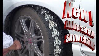 Universal size snow chains for all vehicles
