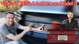 TESLA Letters on the Back of the Model 3! Get the Original Look!