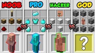 Minecraft Noob Vs Pro Vs Hacker Vs God Super Villager In Minecraft Animation