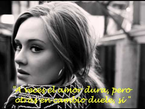 Adele - Someone Like You - Traducida al español.