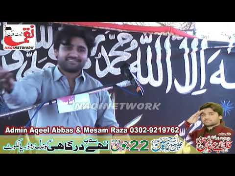 Zakir Malik Qalab Abbas Alvi 22 June 2019 Majlis Aza Stop thy Dargahe Sialkot