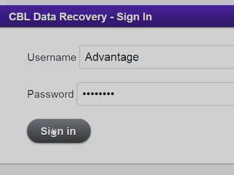 Data Recovery Advantage Portal from CBL