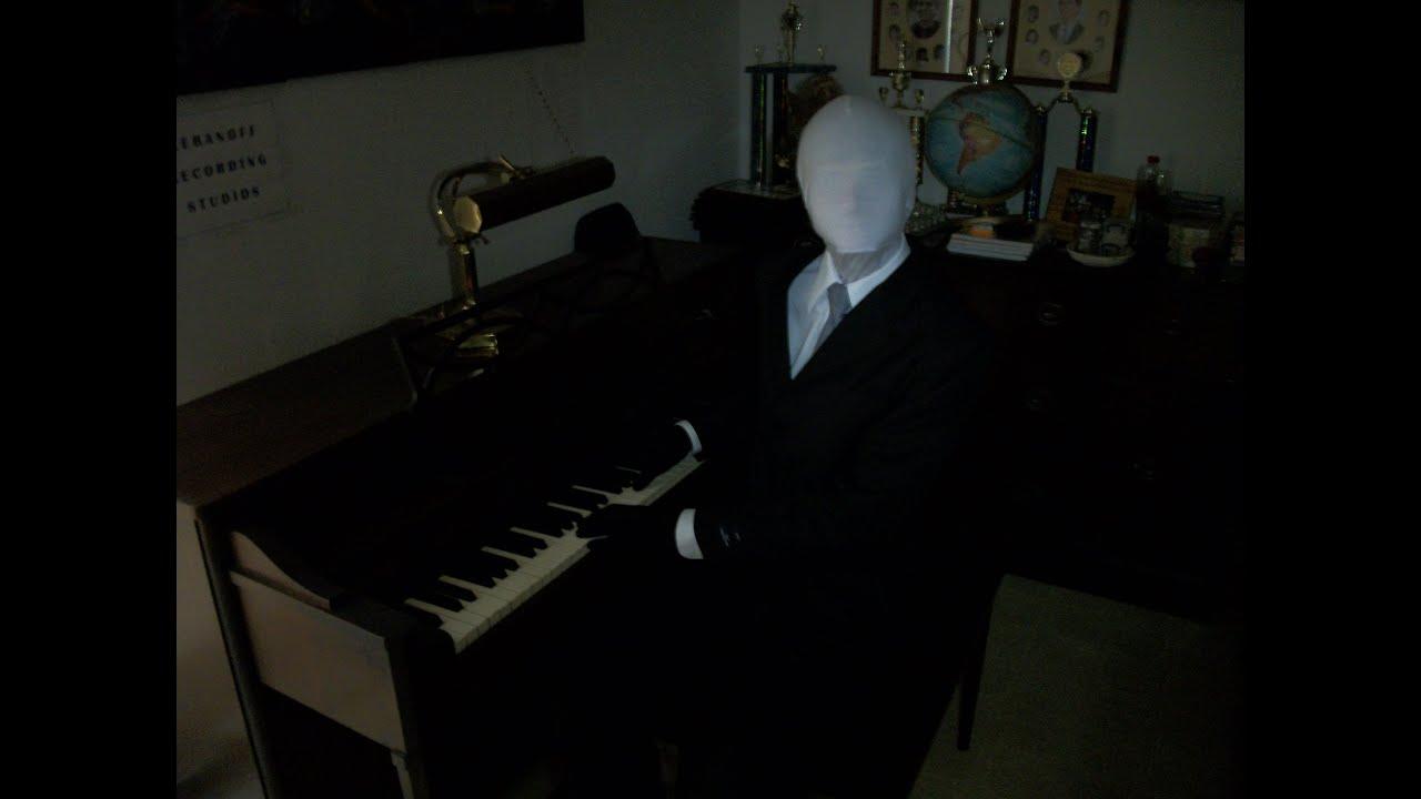 Slender Man Plays Slender Slender Man Playing The Piano