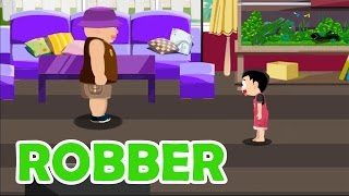 Safety for Kids - Robber | Home Invasion Safety Tips | Education Game for Kids