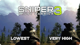 PC Graphics Comparison - Sniper Ghost Warrior 3 - Low vs Ultra Settings