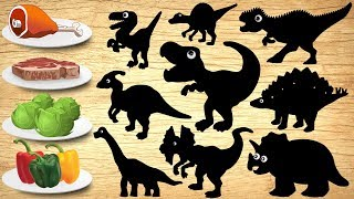 Dinosaurs Puzzle for Children | Dinosaur Jurassic World Name en Sounds for Kids Learning