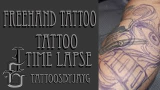 Freehand Tattoo Time lapse by Jay Guzman