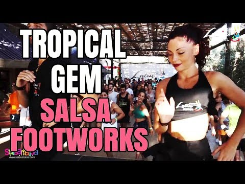 Jessica Patella - Tropical Gem Salsa Footwork | LLF-2017