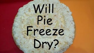 Will it Freeze Dry? - COCONUT CREAM PIE - in a Harvest Right home Freeze Dryer
