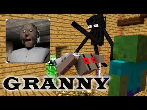 Monster School : GRANNY HORROR GAME CHALLENGE- Minecraft Animation