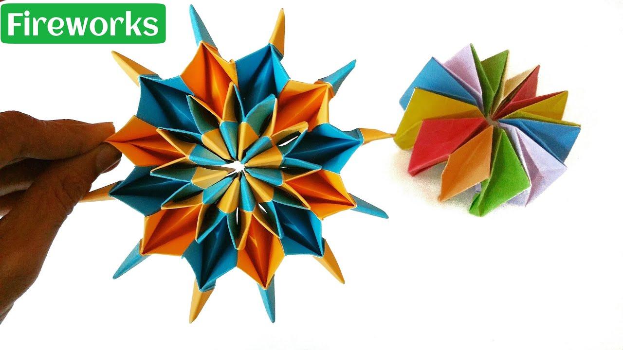 Как из оригами сделать фейерверк в