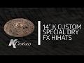 "Zildjian Sound Lab - 14"" K Custom Special Dry FX HiHat, Top"
