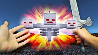 REALISTIC MINECRAFT - STEVE vs ROBOT WITHER!