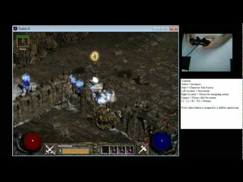 Playing Diablo 2 with a PS3 Controller