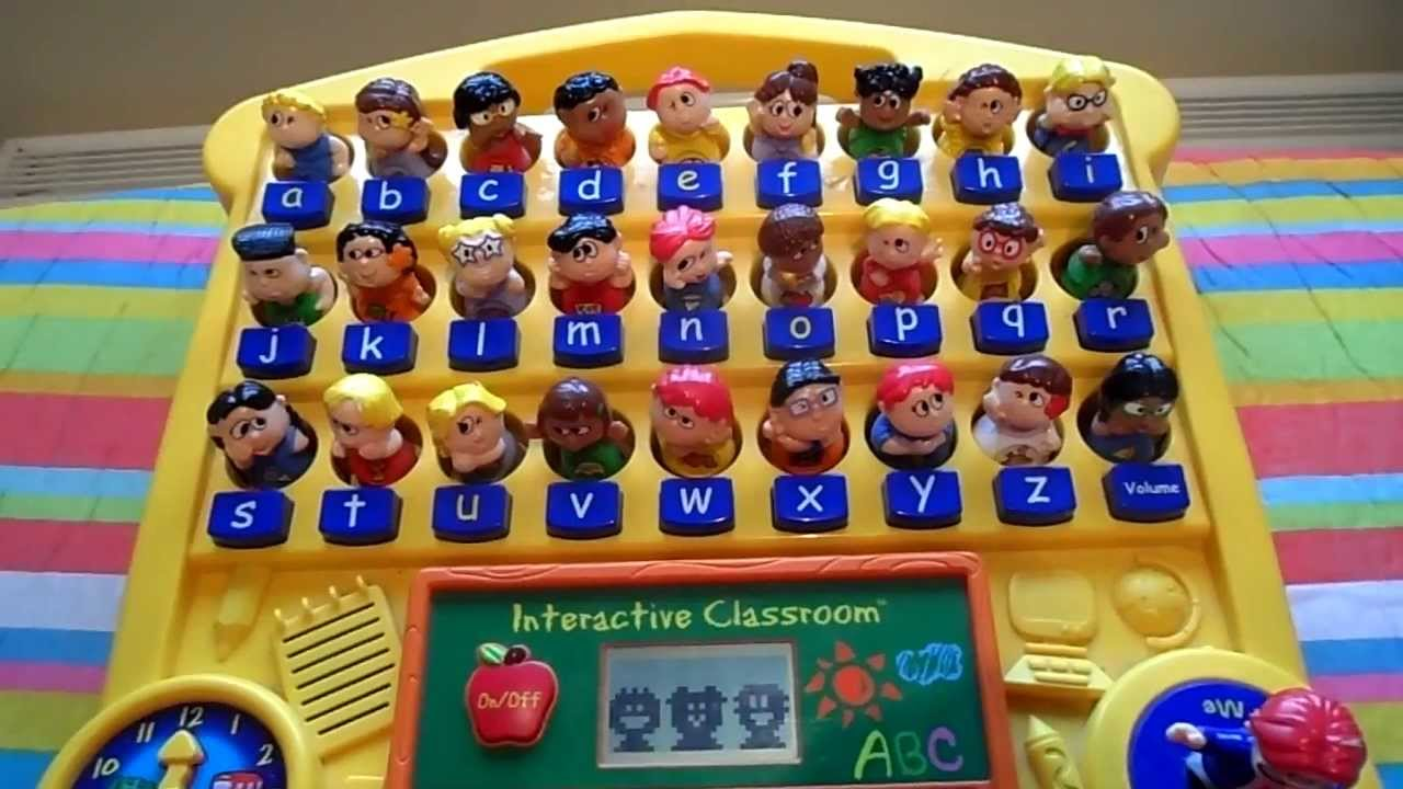 using the vtech interactive classroom preschool phonics