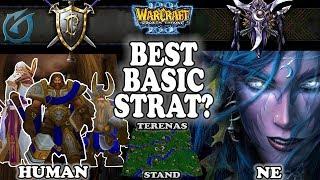 Grubby | Warcraft 3 TFT | 1.30 | HU v NE on Terenas Stand - Best Basic Strat?