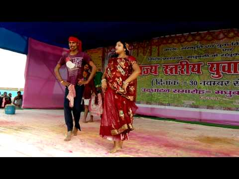 Arti Jha Maithili Folk, Dance Dome Kachh..yuva Mahotsava 2013 video
