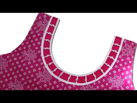 Piping neck design stitching for beginners