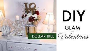 💖DIY DOLLAR TREE GLAM VALENTINES DECOR 💖ELEGANT FLORAL ARRANGEMENT MIRROR CENTERPIECE