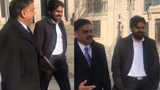 Pawan Kalyan and Nadendla Manohar with Mr Ben Carson secretary HousingandUrban Development In Washington
