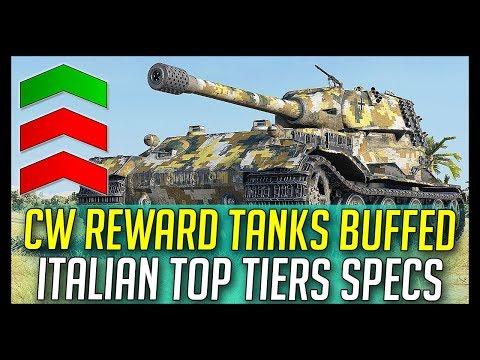 ► CW Tanks Buffed, Italian Top Tier Medium Specs - World of Tanks News