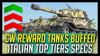 ► CW Tanks Buffed, Italian Top Tier Medium Specs - World of Tanks News