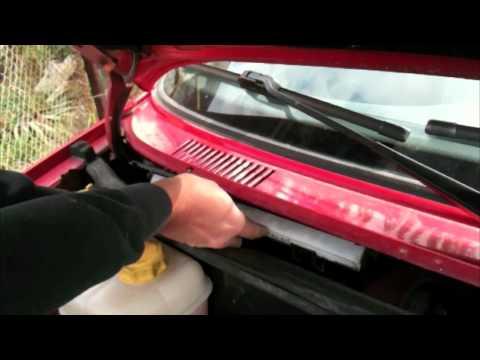 Pollen Filter Change Ford Fiesta 2001 Youtube