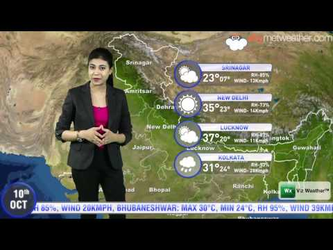 10/10/2014 Skymet Weather Report For India